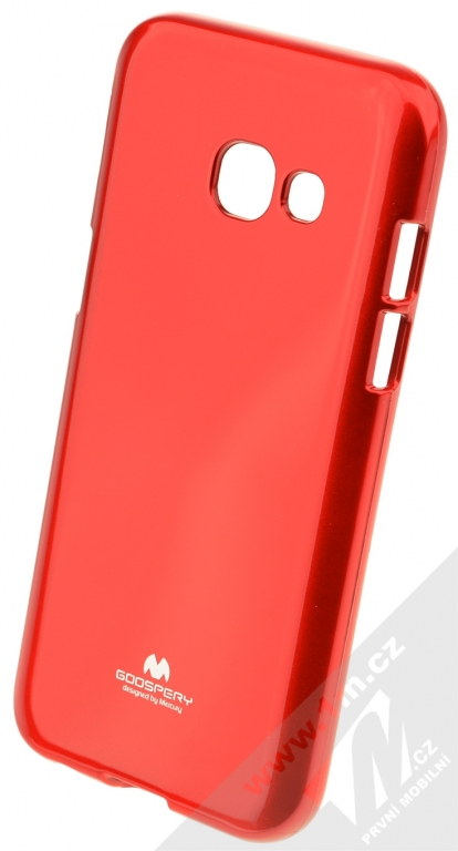 Goospery Jelly Case TPU ochranný silikonový kryt pro Samsung Galaxy A3 (2017)  červená ( 1eb12d5e82e