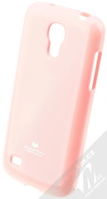 Goospery Jelly Case TPU ochranný silikonový kryt pro Samsung Galaxy S4 Mini  světle růžová (light f59c8bf7aa4
