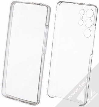 1Mcz 360 Full Cover sada ochranných krytů pro Samsung Galaxy S21 Ultra průhledná (transparent)
