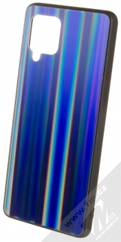 1Mcz Aurora Glass Cover ochranný kryt pro Samsung Galaxy A42 5G měnivě světle modrá (iridescent light bl