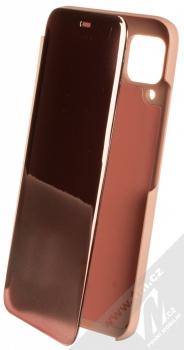 1Mcz Clear View flipové pouzdro pro Huawei P40 Lite růžová (pink)