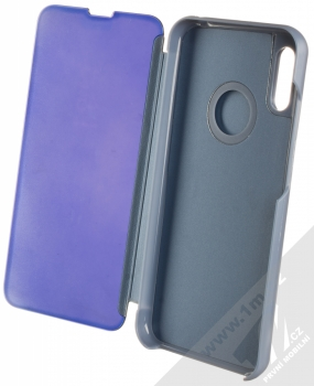1Mcz Clear View flipové pouzdro pro Huawei Y6 (2019) modrá (blue) otevřené