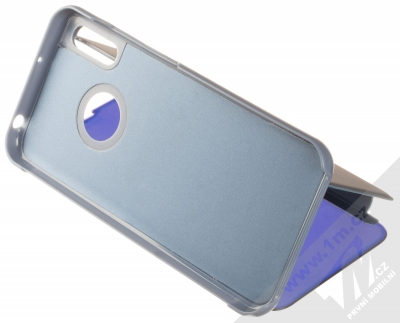 1Mcz Clear View flipové pouzdro pro Huawei Y6 (2019) modrá (blue) stojánek