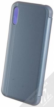 1Mcz Clear View flipové pouzdro pro Huawei Y6 (2019) modrá (blue) zezadu