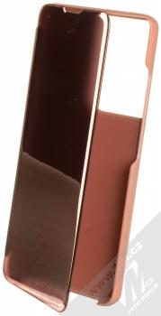 1Mcz Clear View flipové pouzdro pro Samsung Galaxy S21 Ultra růžová (pink)