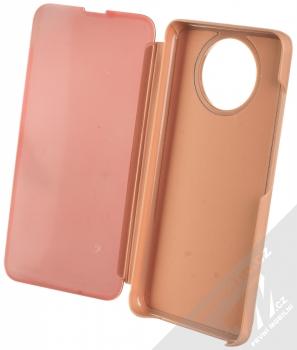 1Mcz Clear View flipové pouzdro pro Xiaomi Redmi Note 9T růžová (pink) otevřené