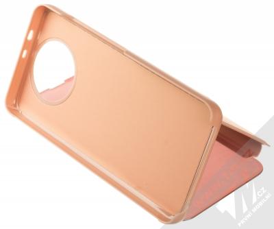 1Mcz Clear View flipové pouzdro pro Xiaomi Redmi Note 9T růžová (pink) stojánek