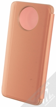 1Mcz Clear View flipové pouzdro pro Xiaomi Redmi Note 9T růžová (pink) zezadu
