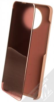 1Mcz Clear View flipové pouzdro pro Xiaomi Redmi Note 9T růžová (pink)