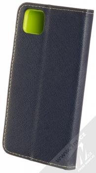 1Mcz Fancy Book flipové pouzdro pro Huawei Y5p, Honor 9S modrá limetkově zelená (blue lime) zezadu