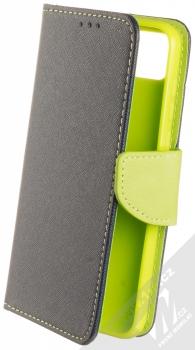 1Mcz Fancy Book flipové pouzdro pro Huawei Y5p, Honor 9S modrá limetkově zelená (blue lime)