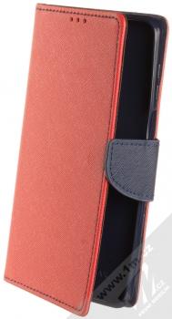 1Mcz Fancy Book flipové pouzdro pro Xiaomi Redmi Note 9 Pro, Redmi Note 9 Pro Max, Redmi Note 9S červená modrá (red blue)