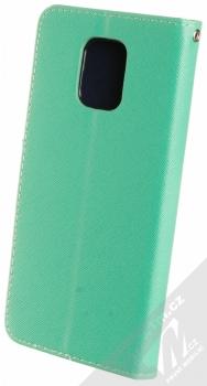 1Mcz Fancy Book flipové pouzdro pro Xiaomi Redmi Note 9 Pro, Redmi Note 9 Pro Max, Redmi Note 9S mátově zelená modrá (mint blue) zezadu
