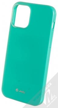 1Mcz Jelly TPU ochranný kryt pro Apple iPhone 12, iPhone 12 Pro mátově zelená (mint green)