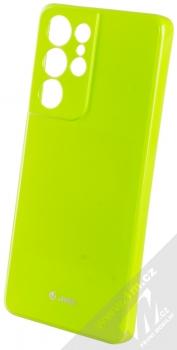1Mcz Jelly TPU ochranný kryt pro Samsung Galaxy S21 Ultra limetkově zelená (lime green)