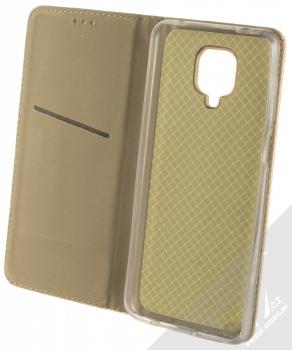 1Mcz Magnet Book Alternativní flipové pouzdro pro Xiaomi Redmi Note 9 Pro, Redmi Note 9 Pro Max, Redmi Note 9S zlatá (gold) otevřené