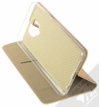 1Mcz Magnet Book Alternativní flipové pouzdro pro Xiaomi Redmi Note 9 Pro, Redmi Note 9 Pro Max, Redmi Note 9S zlatá (gold) stojánek