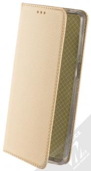 1Mcz Magnet Book Alternativní flipové pouzdro pro Xiaomi Redmi Note 9 Pro, Redmi Note 9 Pro Max, Redmi Note 9S zlatá (gold)