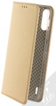 1Mcz Magnet Book flipové pouzdro pro Motorola Moto E7 Power zlatá (gold)
