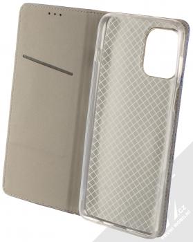 1Mcz Magnet Book flipové pouzdro pro Motorola Moto G100 tmavě modrá (dark blue) otevřené