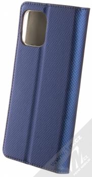 1Mcz Magnet Book flipové pouzdro pro Motorola Moto G100 tmavě modrá (dark blue) zezadu