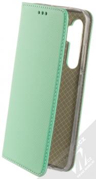 1Mcz Magnet Book flipové pouzdro pro Xiaomi Mi Note 10 Lite mátově zelená (mint green)