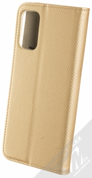 1Mcz Magnet Book flipové pouzdro pro Xiaomi Redmi Note 10 5G, Poco M3 Pro zlatá (gold) zezadu