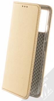 1Mcz Magnet Book flipové pouzdro pro Xiaomi Redmi Note 10 5G, Poco M3 Pro zlatá (gold)