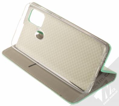 1Mcz Magnet Book flipové pouzdro pro Samsung Galaxy A21s mátově zelená (mint green) stojánek