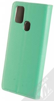 1Mcz Magnet Book flipové pouzdro pro Samsung Galaxy A21s mátově zelená (mint green) zezadu