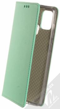 1Mcz Magnet Book flipové pouzdro pro Samsung Galaxy A21s mátově zelená (mint green)
