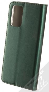1Mcz Magnetic Book flipové pouzdro pro Samsung Galaxy A72, Galaxy A72 5G tmavě zelená (dark green) zezadu
