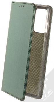 1Mcz Magnetic Book flipové pouzdro pro Samsung Galaxy A72, Galaxy A72 5G tmavě zelená (dark green)