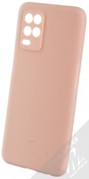 1Mcz Matt Skinny TPU ochranný silikonový kryt pro Realme 8 5G světle růžová (powder pink)