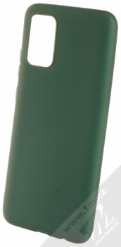 1Mcz Matt TPU ochranný kryt pro Samsung Galaxy A02s tmavě zelená (forest green)