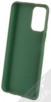 1Mcz Matt TPU ochranný silikonový kryt pro Xiaomi Redmi Note 10, Redmi Note 10S tmavě zelená (forest green) zepředu