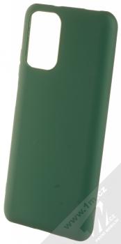 1Mcz Matt TPU ochranný silikonový kryt pro Xiaomi Redmi Note 10, Redmi Note 10S tmavě zelená (forest green)
