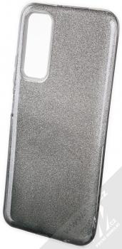 1Mcz Shining Duo TPU třpytivý ochranný kryt pro Huawei P Smart (2021) stříbrná černá (silver black)