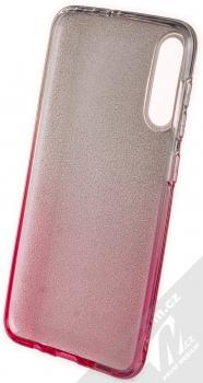1Mcz Shining Duo třpytivý ochranný kryt pro Samsung Galaxy A50, Galaxy A30s stříbrná růžová (silver pink) zepředu