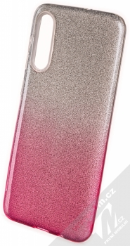 1Mcz Shining Duo třpytivý ochranný kryt pro Samsung Galaxy A50, Galaxy A30s stříbrná růžová (silver pink)
