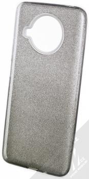 1Mcz Shining Duo TPU třpytivý ochranný kryt pro Xiaomi Mi 10T Lite 5G stříbrná černá (silver black)