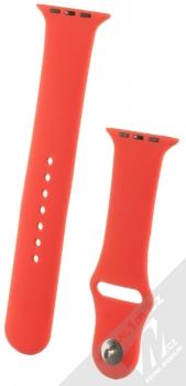 1Mcz Silikonový sportovní řemínek pro Apple Watch 42mm, Watch 44mm červená (red)