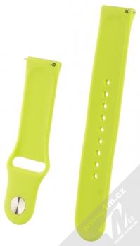 1Mcz Silikonový sportovní řemínek s univerzální osičkou 22mm limetkově zelená (lime green) zezadu