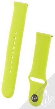 1Mcz Silikonový sportovní řemínek s univerzální osičkou 22mm limetkově zelená (lime green)