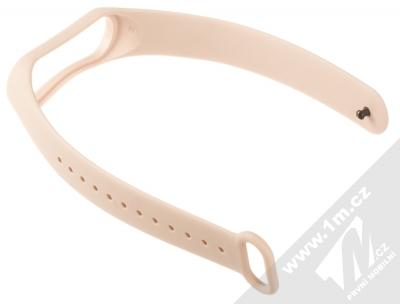 1Mcz Single Color Strap silikonový pásek na zápěstí pro Xiaomi Mi Band 3, Mi Band 4 světle růžová (powder pink) rozepnuté zezadu