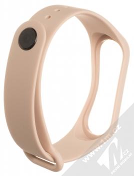 1Mcz Single Color Strap silikonový pásek na zápěstí pro Xiaomi Mi Band 3, Mi Band 4 světle růžová (powder pink) zezadu