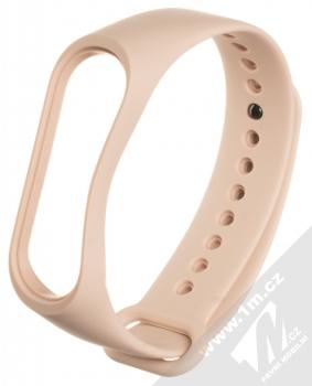1Mcz Single Color Strap silikonový pásek na zápěstí pro Xiaomi Mi Band 3, Mi Band 4 světle růžová (powder pink)
