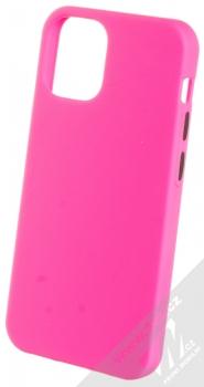 1Mcz Solid TPU ochranný kryt pro Apple iPhone 12 mini sytě růžová (hot pink)
