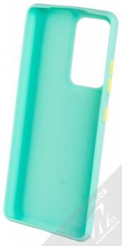 1Mcz Solid TPU ochranný kryt pro Samsung Galaxy S21 Ultra mátově zelená (mint green) zepředu
