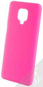 1Mcz Solid TPU ochranný kryt pro Xiaomi Redmi Note 9 Pro, Redmi Note 9 Pro Max, Redmi Note 9S sytě růžová (hot pink)